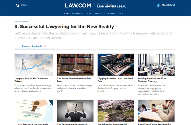 Lean Adviser for Law Firms Information and Certification | Lean