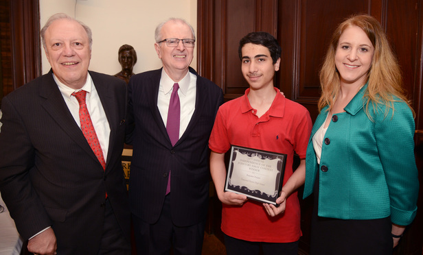The Impact Of The Magna Carta  New York Law Journal New York City High School Students Were Recognized Monday For Their  Achievements In The Annual Legal Essay In English Literature also Terrorism Essay In English  Thesis Statement Essay