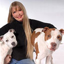 Zandra Anderson with Zeus and Zena