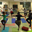 A Grounded for Good yoga class at the Covenant House.