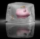 piggy bank ice