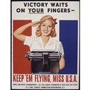 1944. Artist: unknown. Produced by the Royal Typewriter Company for the U.S. Civil Service Commission.
