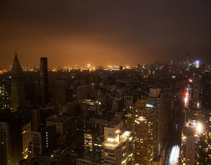 Hurricane Sandy power outage in Lower Manhattan, New York, October 29