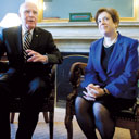 Supreme Court nominee Solicitor General Elena Kagan meets with Senator Patrick Leahy (D-VT) on the Hill.