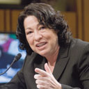 Supreme Court Nominee Judge Sonia Sotomayor during her confirmation hearings.