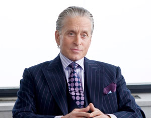 Michael Douglas, of Wall Street types who