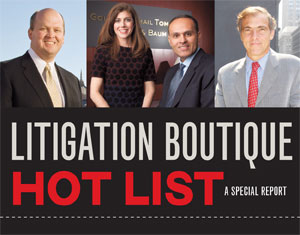 Litigation Boutiques Hot List