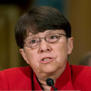 Mary Jo White speaks yesterday at her confirmation hearing
