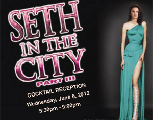 The front of the flyer for the 'Seth in the City' event included with an email sent to most deputies and chiefs in the Philadelphia District Attorney's Office last week.