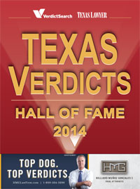 Texas Lawyer Verdicts Hall of Fame 2014