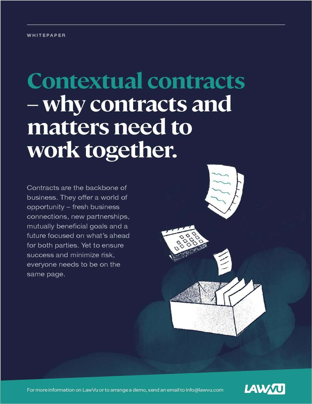Contracts are the backbone of business. They offer a world of opportunity -- fresh business connections, new partnerships, mutually beneficial goals and a future focused on what's ahead for both parties. Yet, to ensure success and minimize risk, everyone needs to be on the same page. Discover how to bring contracts and matters together to provide true, actionable insights.